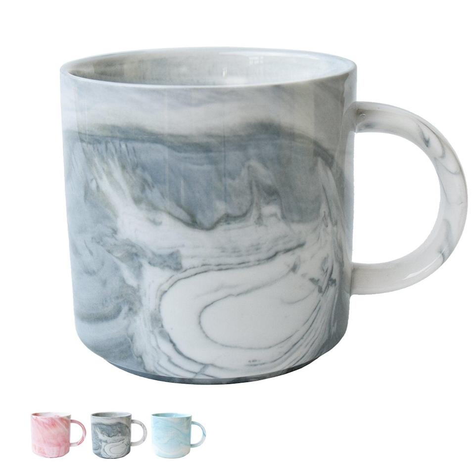 "<h3><a href=""https://amzn.to/2DPhaLc"" rel=""nofollow noopener"" target=""_blank"" data-ylk=""slk:Marble Ceramic Mug"" class=""link rapid-noclick-resp"">Marble Ceramic Mug</a></h3><br>Make their morning coffee to afternoon teas even chicer this season with a ceramic marbelized mug in dreamy pastel hues. <br><br><strong>Smarlin</strong> Marble Ceramic Coffee Mug, $, available at <a href=""https://amzn.to/2DPhaLc"" rel=""nofollow noopener"" target=""_blank"" data-ylk=""slk:Amazon"" class=""link rapid-noclick-resp"">Amazon</a>"