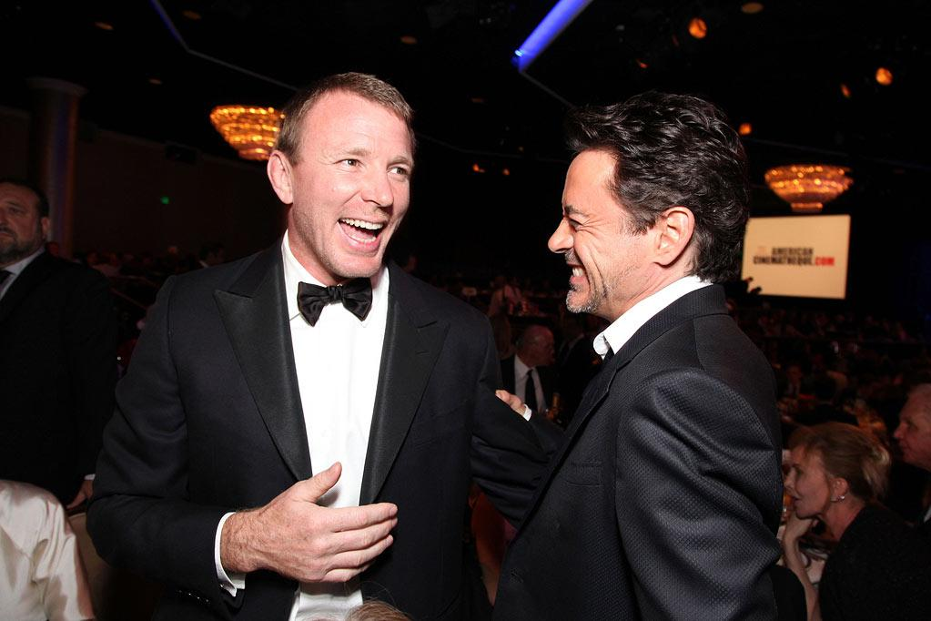 """<a href=""""http://movies.yahoo.com/movie/contributor/1800023092"""">Guy Ritchie</a> and honoree <a href=""""http://movies.yahoo.com/movie/contributor/1800010914"""">Robert Downey Jr.</a> attend the 25th American Cinematheque Award in Beverly Hills on October 14, 2011."""