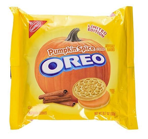 <p>Oreos are a classic that shouldn't me messed with, right? Wrong. Sadly, it's only the creme in the middle that has the pumpkin goodness, not the actual cookies.<br>(Amazon) </p>
