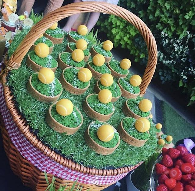 Some of the stunning tennis-themed treats created by the chef (Rebecca Marshman-Rondeau)