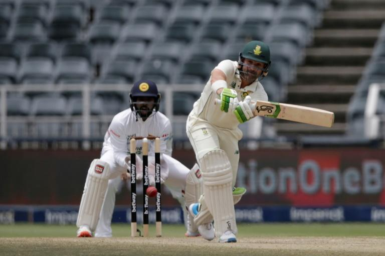 South Africa's Dean Elgar (R) helps his side to a 10-wicket win over Sri Lanka for a 2-0 series cleansweep