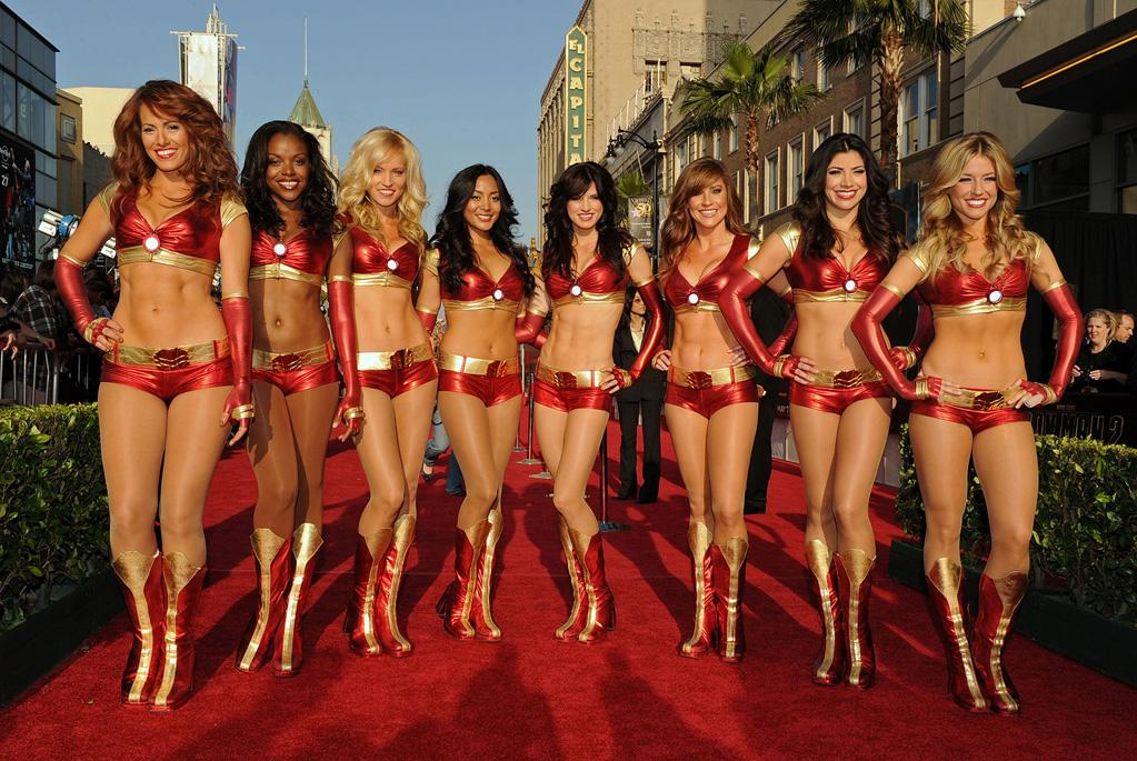 "Dancers at the Los Angeles premiere of <a href=""http://movies.yahoo.com/movie/1810026429/info"">Iron Man 2</a> - 04/26/2010"