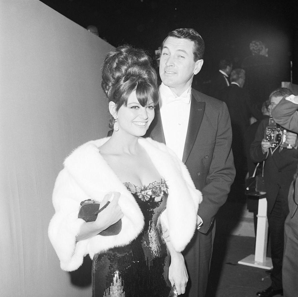 <p>Claudia donned a figure-hugging sequin number with floral embellishments at the neckline and a white coat. She presented on stage that evening with Steve McQueen. </p>