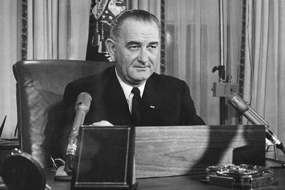 "<p>Just six days after President John F. Kennedy was assassinated, Lyndon Johnson <a href=""https://www.politico.com/magazine/story/2015/11/thanksgiving-1963-lyndon-johnson-213399"" rel=""nofollow noopener"" target=""_blank"" data-ylk=""slk:delivered a message"" class=""link rapid-noclick-resp"">delivered a message</a> to the nation on Thanksgiving night: ""A great leader is dead; a great nation must move on. Yesterday is not ours to recover, but tomorrow is ours to win or to lose.""</p>"