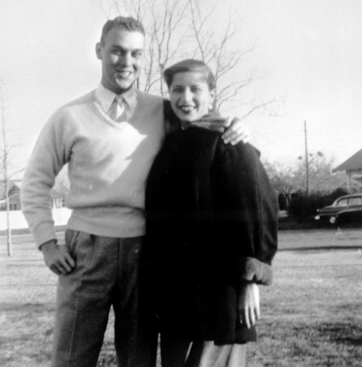 "Supreme Court, Ruth Bader Ginsburg and her husband Martin Ginsburg, pose for a photo in Fort Sill, Okla., when Martin was serving in the U.S. army at Artillery Village. <span class=""copyright"">(Supreme Court of the United States via AP)</span>"