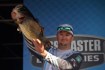 Kyle Welcher of Opelika, Ala., earned $1,000 for Phoenix Big Bass of the week with his 10-1 largemouth.
