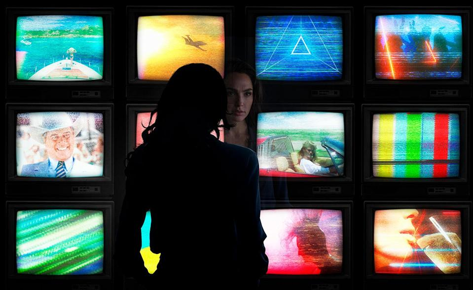 """GAL GADOT as Diana Prince in the action adventure """"WONDER WOMAN 1984,"""" a Warner Bros. Pictures release. (Clay Enos/ ™ & © DC Comics)"""