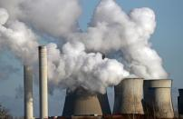 FILE PHOTO: Steam rises from the Niederaussem lignite power plant