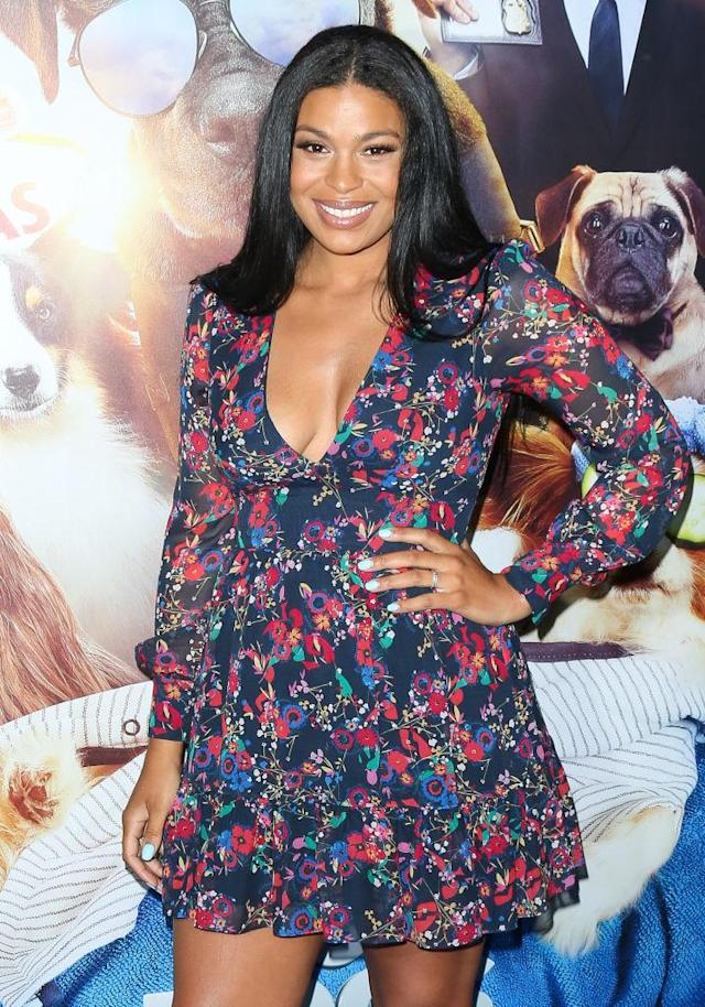 Jordin Sparks makes a red carpet appearance, just days after giving birth. (Photo: Getty Images)