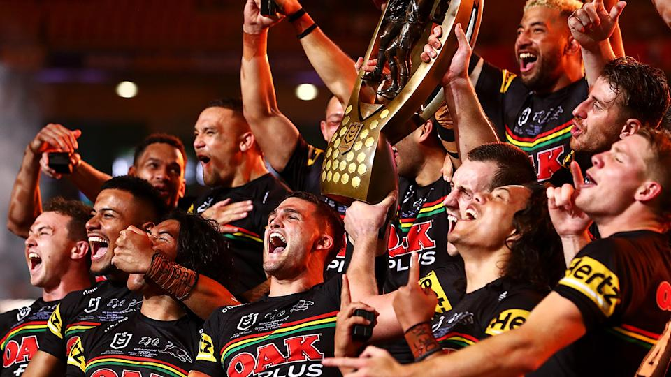 The Penrith Panthers' premiership celebrations have copped some criticism from club great Greg Alexander. (Photo by Chris Hyde/Getty Images)