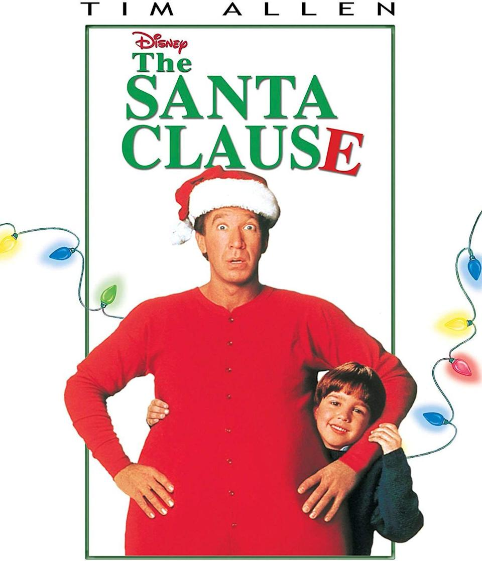 """<p>When a divorced businessman (Tim Allen) accidentally kills Santa, he must take on the new role and fill his ginormous red suit in this 1994 movie.</p><p><a class=""""link rapid-noclick-resp"""" href=""""https://www.amazon.com/Santa-Clause-Tim-Allen/dp/B003QSI7X0/?tag=syn-yahoo-20&ascsubtag=%5Bartid%7C10055.g.1315%5Bsrc%7Cyahoo-us"""" rel=""""nofollow noopener"""" target=""""_blank"""" data-ylk=""""slk:WATCH NOW"""">WATCH NOW</a></p><p><strong>RELATED: </strong><a href=""""https://www.goodhousekeeping.com/life/entertainment/g25397689/santa-clause-cast/"""" rel=""""nofollow noopener"""" target=""""_blank"""" data-ylk=""""slk:'The Santa Clause' Cast Has Changed Dramatically Over the Last 24 Years"""" class=""""link rapid-noclick-resp"""">'The Santa Clause' Cast Has Changed Dramatically Over the Last 24 Years</a></p>"""