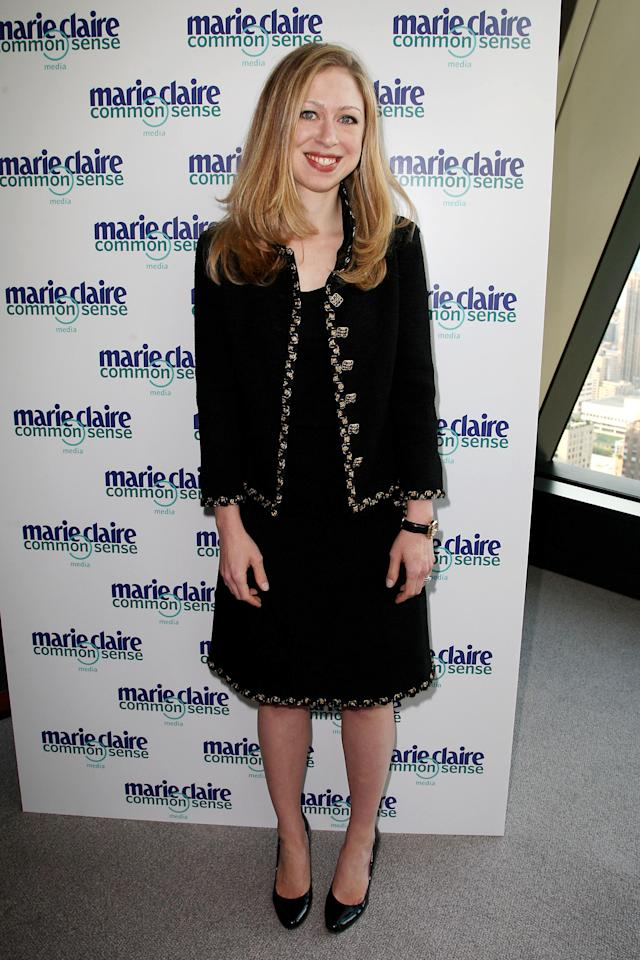 "Chelsea Clinton arrives at a panel discussion hosted by Marie Clare magazine entitled ""Social Media: The Perils and Possibilities of Living in a Digital World,"" at the Hearst Tower on Tuesday, July 26, 2011 in New York. (AP Photo/Starpix, Amanda Schwab)"