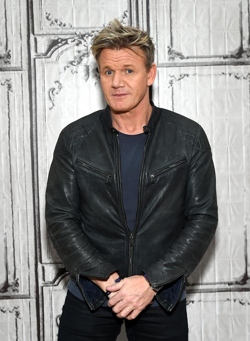 Chef Gordon Ramsay participates in AOL's BUILD Speaker Series to discuss discusses his new MasterChef mobile game at AOL Studios on Wednesday, June 22, 2016, in New York. (Photo by Evan Agostini/Invision/AP)