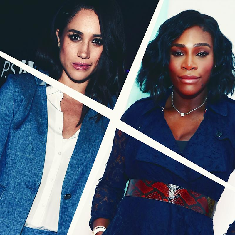 meghan markle says serena williams has helped her deal