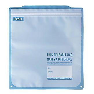 """<p>Reusable freezer bags with a ziplock to keep your food yummy and fresh. Perfect for storing leftovers or for marinating. SO much better than using single-use plastic bags! </p><p><a class=""""body-btn-link"""" href=""""https://go.redirectingat.com?id=127X1599956&url=https%3A%2F%2Fwww.lakeland.co.uk%2F73374%2FRussbe-Reusable-Freezer-Bags-%25E2%2580%2593-Pack-of-8&sref=http%3A%2F%2Fwww.delish.com%2Fuk%2Fkitchen-accessories%2Fcookware%2Fg28938514%2Feco-friendly-products%2F"""" target=""""_blank"""">BUY NOW </a><strong>£12.99</strong></p>"""