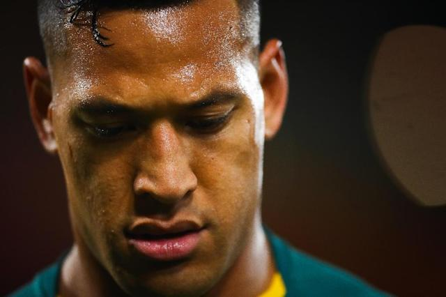 Under fire: Australia's Israel Folau, who wrote on social media this month that God's plan for gay people was hell unless they repent their sins (AFP Photo/Patrick HAMILTON)