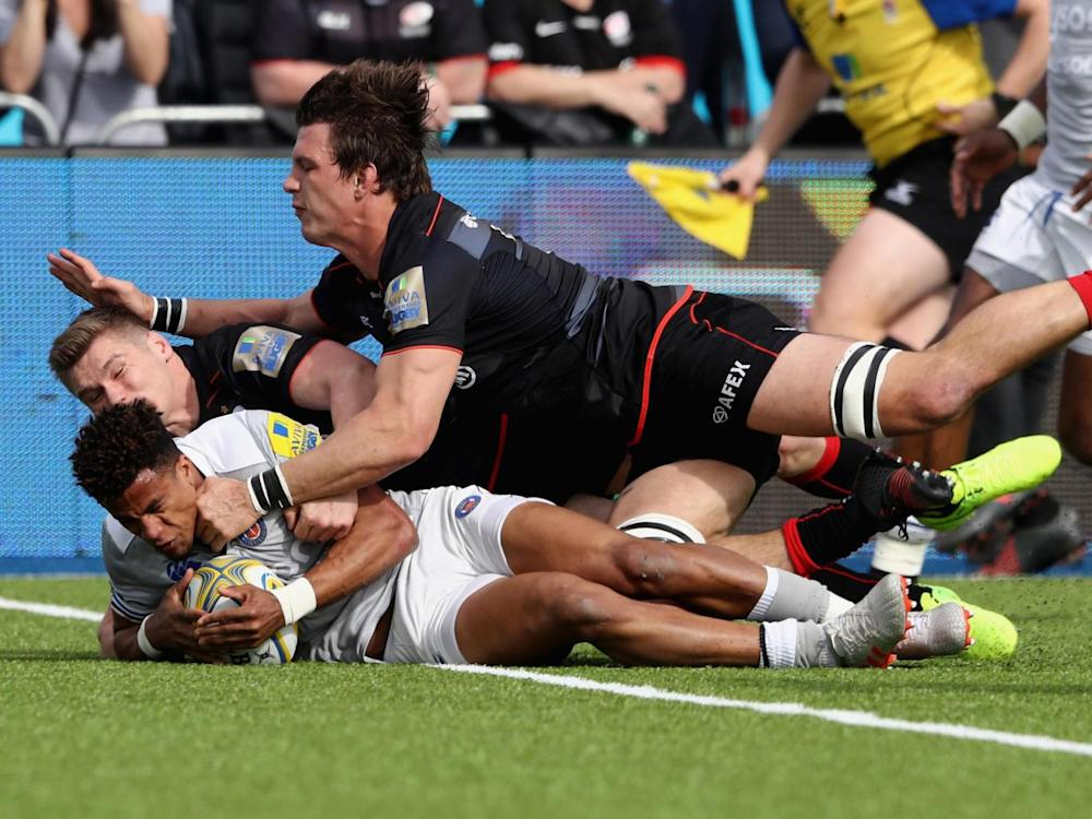 Anthony Watson scored Bath's only try on his return from Six Nations duty (Getty)