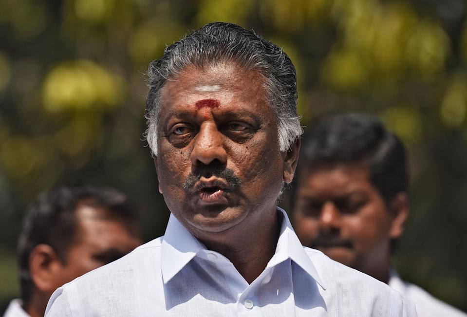 <p><strong>WINS</strong> from <strong>Bodinayakkanur</strong> (Tamil Nadu) against Thanga Tamil Selvan (DMK) by 11,021 votes</p>