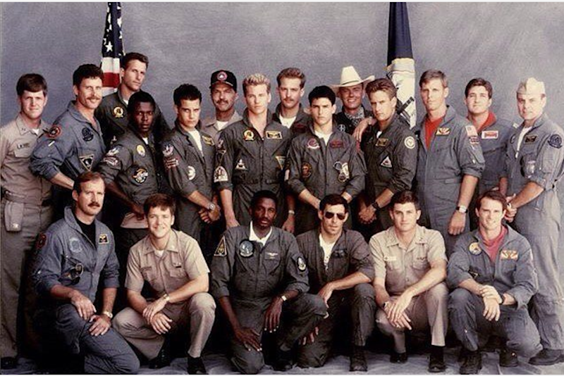 The ensemble of 1986's 'Top Gun' (credit: Paramount)