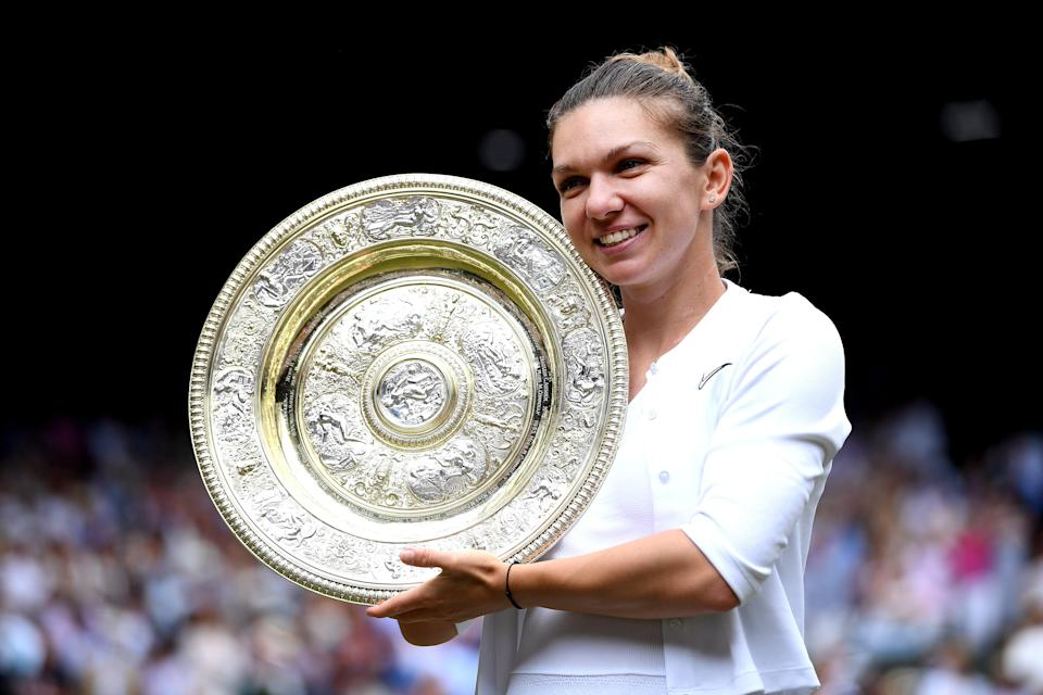 Simona Halep lifted the women's title in 2019 - but injury has forced her out of the 2021 Championships (Getty Images)