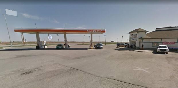Drivers are trying to get Gas Plus to pay for their vehicle repairs after the company's station in Langdon, Alta., just east of Calgary, mixed up gas and diesel.   (Google Maps - image credit)