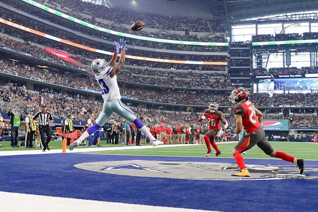 Expect to see more of these catches by Dallas Cowboys WR Michael Gallup once the season starts. (Getty Images)