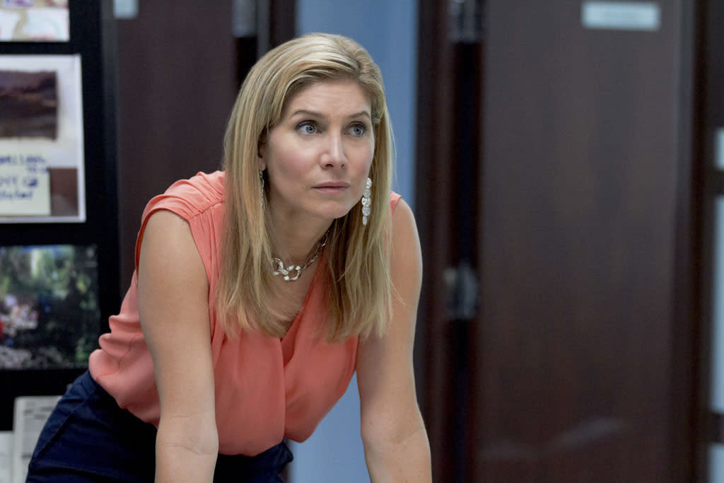 "Elizabeth Mitchell stars as Linda Burdick in the Lifetime Original Movie, ""Prosecuting Casey Anthony."""