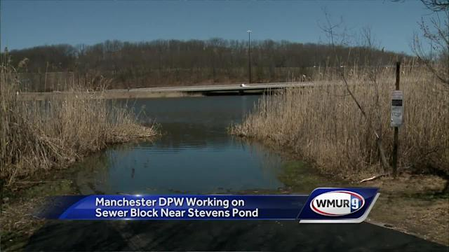 ​The Manchester Department of Public Works is working to fix an issue that has caused sewage to leak into a nearby brook that flows in Steven's Pond.
