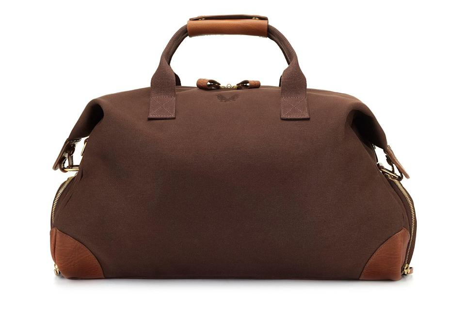 """<p>A poster brand for British excellence, Bennett Winch's leather weekend bag was made for the forthcoming Great British staycation craze. Hand-crafted in England, it comes with a protective laptop sleeve, passport and phone pocket, dual waterproof compartments and enough storage to suit all travellers. </p><p>£1,350, <a href=""""https://www.bennettwinch.com/products/brown-full-leather-weekender"""" rel=""""nofollow noopener"""" target=""""_blank"""" data-ylk=""""slk:Bennett Winch"""" class=""""link rapid-noclick-resp"""">Bennett Winch</a>.</p>"""