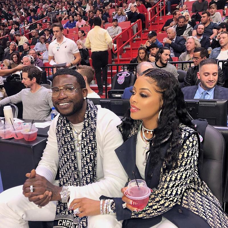 Gucci Mane and Keyshia Ka'oir Continue Their Courtside Hot Streak