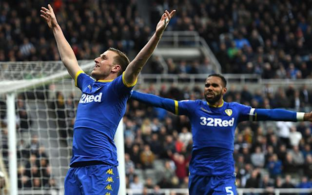 Chris Wood scored for Leeds United with 15 seconds of injury time remaining - Rex Features