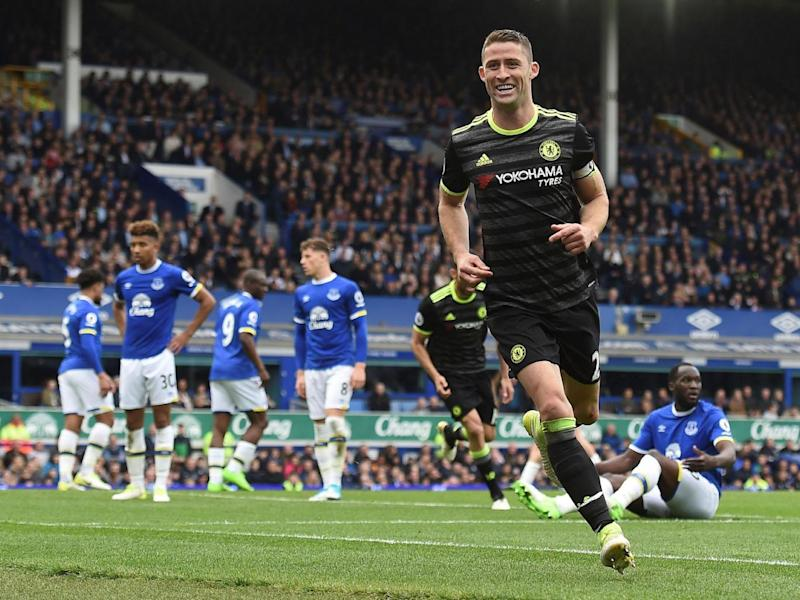 Gary Cahill got on the scoresheet too as the Blues brushed aside Everton (Getty)