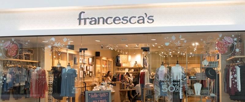 New Jersey, NJ, October 6 2018:A Francesca's store in New Jersey. There are over 670 Francesca's stores.