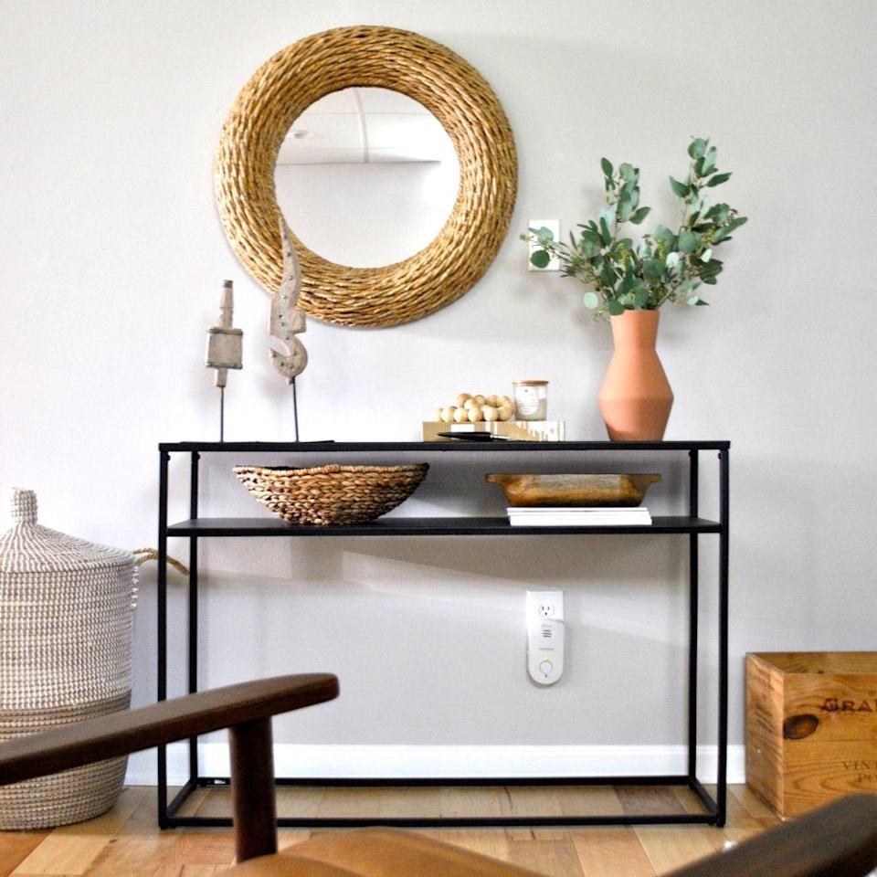 """<p>This basement space is filled with several similar-tone statement pieces for a calm, cool, and collected feel. A woven circular mirror, a modern terra cotta vase, and a wooden storage box bring tons of texture to this space. </p><p><strong>See more at <a href=""""https://www.sharpandgrey.com/blog/basement-remodel-reveal"""" rel=""""nofollow noopener"""" target=""""_blank"""" data-ylk=""""slk:Sharp and Grey"""" class=""""link rapid-noclick-resp"""">Sharp and Grey</a>. </strong></p><p><a class=""""link rapid-noclick-resp"""" href=""""https://go.redirectingat.com?id=74968X1596630&url=https%3A%2F%2Fwww.walmart.com%2Fip%2FDettelin-Wall-Mirror-Handmade-Geometric-Hanging-Mirror-Decor-for-Home%2F511295980&sref=https%3A%2F%2Fwww.redbookmag.com%2Fhome%2Fg36061437%2Fbasement-ideas%2F"""" rel=""""nofollow noopener"""" target=""""_blank"""" data-ylk=""""slk:SHOP MIRRORS"""">SHOP MIRRORS</a></p>"""