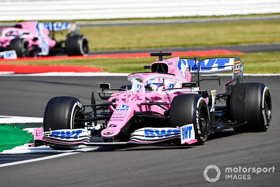 """Nico Hulkenberg, Racing Point RP20, Lance Stroll, Racing Point RP20<span class=""""copyright"""">Mark Sutton / Motorsport Images</span>"""