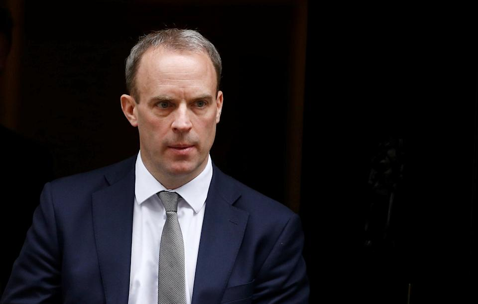<p>Dominic Raab defended the Government's use of data</p>REUTERS