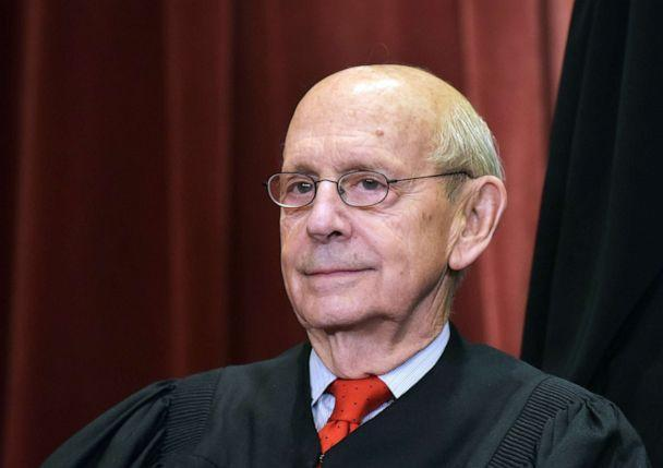 PHOTO: Associate Justice Stephen Breyer poses for the official group photo at the Supreme Court in Washington, D.C., Nov. 30, 2018. (Mandel Ngan/AFP via Getty Images, FILE)