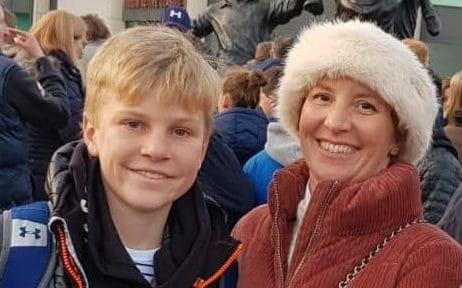 Among the Britons feared dead are Anita Nicholson, 42, and her 11-year-old son Alex - Credit: Facebook
