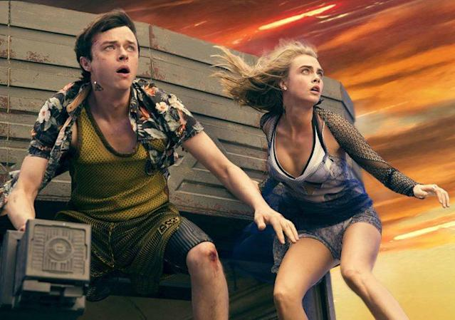 Dane DeHaan and Cara Delevingne in 'Valerian and the City of a Thousand Planets' (Photo: STX Entertainment)