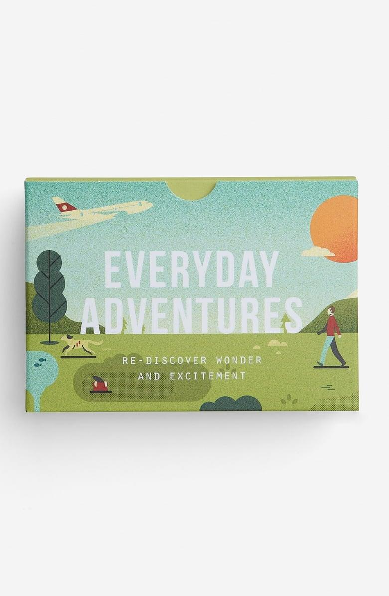 <p>Since they're not traveling the world, they can get out some wanderlust with this <span>Everyday Adventures Set of 60 Prompt Cards</span> ($16).</p>