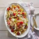 """<p>Homemade pasta sauce always tastes so much better. And the simple ingredients used in this recipe lets the freshness of the dish shine.</p><p><em><a href=""""https://www.womansday.com/food-recipes/food-drinks/a28355508/pasta-with-marinated-cherry-tomato-sauce-recipe/"""" rel=""""nofollow noopener"""" target=""""_blank"""" data-ylk=""""slk:Get the Pasta with Marinated Cherry Tomato Sauce recipe."""" class=""""link rapid-noclick-resp"""">Get the Pasta with Marinated Cherry Tomato Sauce recipe.</a></em></p>"""