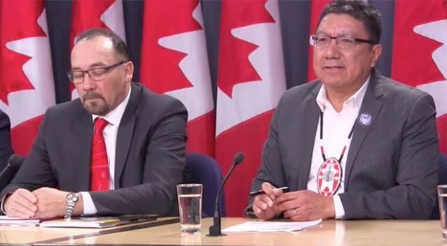 National Chief Perry Bellegarde was part of a press conference held this week declaring a state of emergency. Source: The Canadian Press