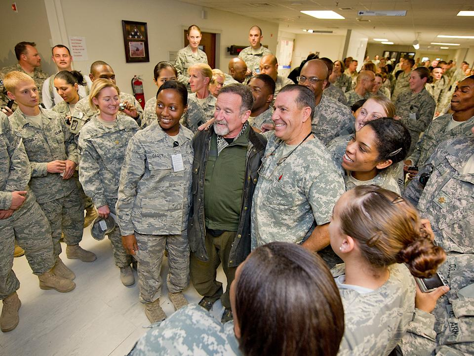 Robin Williams's time spent visiting the military is recalled in affectionate detail in the new documentaryPeter Jarowey/Vertical Entertainment