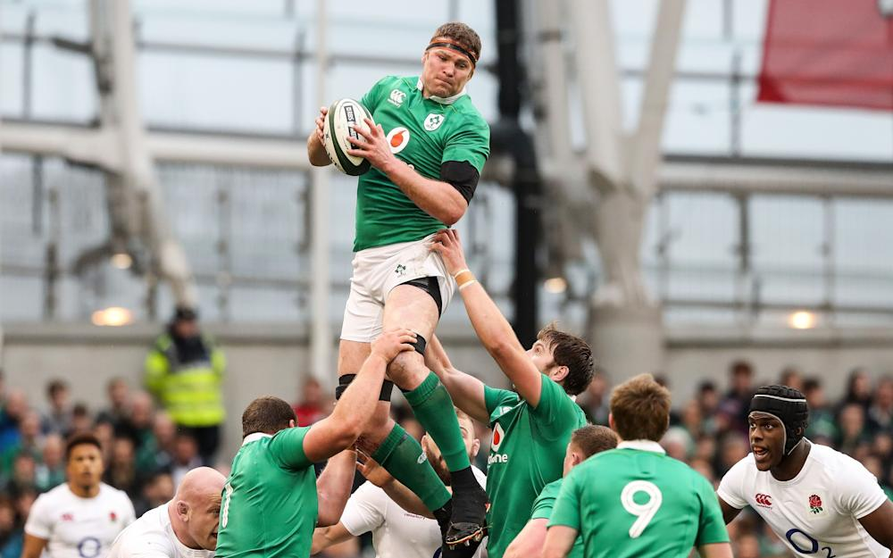 Ireland's Donnacha Ryan claims a lineout - Credit: REX