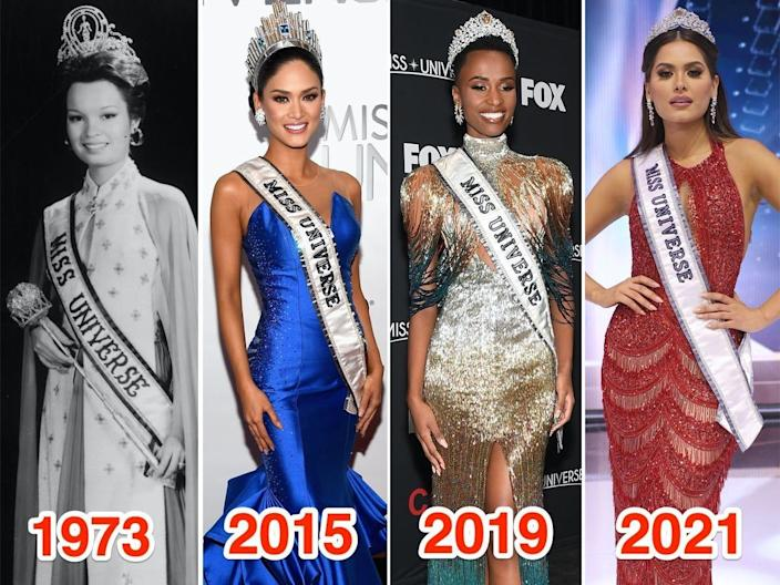 The_winners_of_Miss_Universe_throughout_the_years