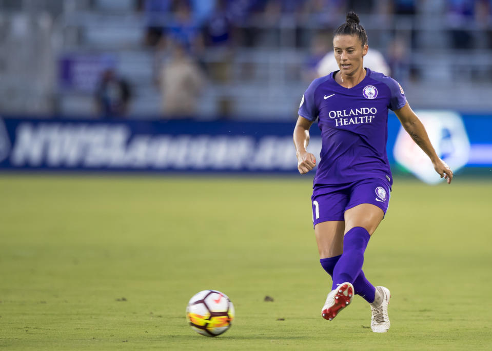 Ashlyn Harris and Ali Krieger (pictured) both play for Orlando Pride.