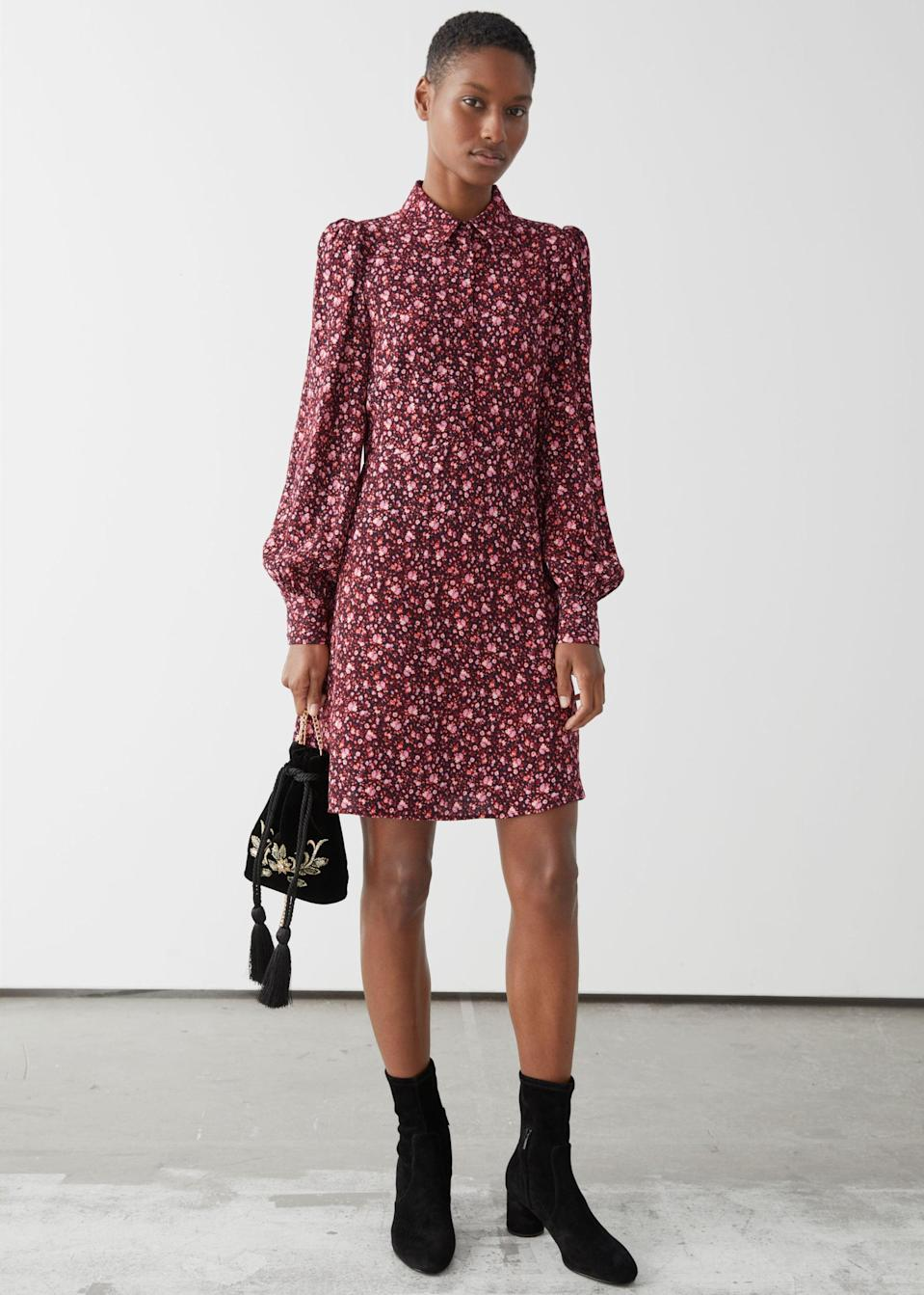 <p>You'll wear this <span>&amp; Other Stories Mini Shirt Dress</span> ($53, originally $89) to the office or afterwork shenanigans.</p>