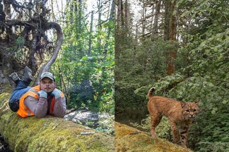 Hilarious! Wildlife Photographer Finds Man Posing for His Camera Set up for a Wild Cat