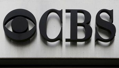 "The CBS ""eye"" and logo are seen outside the CBS Broadcast Center on West 57th St. in Manhattan New York"