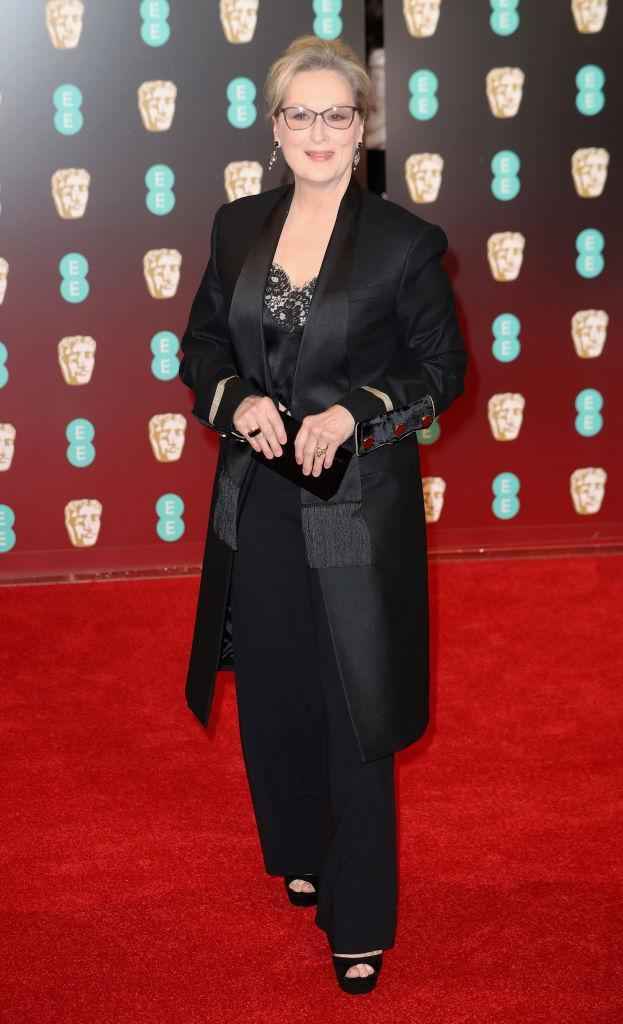 <p>For this year's Baftas, Meryl Streep dressed in a sharp suit by Givenchy. And not only was she a winner at the ceremony but a winner on the red carpet, too. <em>[Photo: Getty]</em> </p>
